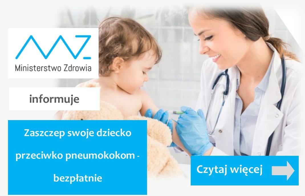 Wiosna bez pneumokoków - Zaszczep swoje dziecko bezpłatnie!