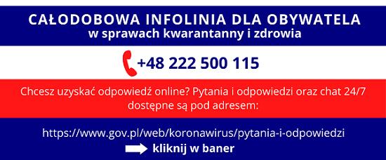 Całodobowa infolinia - baner
